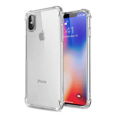 Extreme Heavy Duty Protector Soft Rubber TPU Bumper Case Anti-Scratch Shockproof Rugged Protection Tampa Transparente Transparente para iPhone X