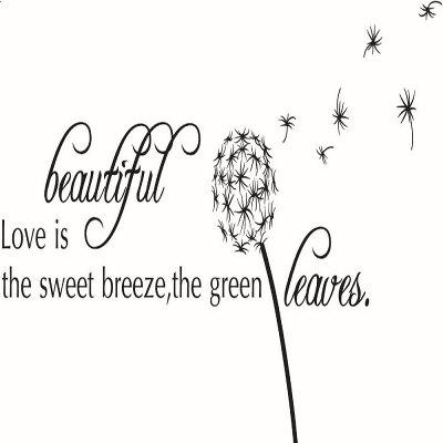 DSU Beautiful Dandelion English Quote Design Wall StickerWall Stickers<br>DSU Beautiful Dandelion English Quote Design Wall Sticker<br><br>Art Style: Plane Wall Stickers<br>Brand: DSU<br>Color Scheme: Black<br>Effect Size (L x W): 60 x 98cm<br>Function: Decorative Wall Sticker<br>Layout Size (L x W): 60 x 98cm<br>Material: Vinyl(PVC)<br>Package Contents: 1 x Wall Sticker<br>Package size (L x W x H): 60.00 x 5.00 x 5.00 cm / 23.62 x 1.97 x 1.97 inches<br>Package weight: 0.1100 kg<br>Product size (L x W x H): 60.00 x 98.00 x 0.01 cm / 23.62 x 38.58 x 0 inches<br>Product weight: 0.0600 kg<br>Quantity: 1<br>Sizes: Others<br>Subjects: Abstract,Botanical,Romance,Words / Quotes<br>Suitable Space: Bedroom,Cafes,Dining Room,Hotel,Kids Room,Living Room,Office,Study Room / Office<br>Type: Plane Wall Sticker