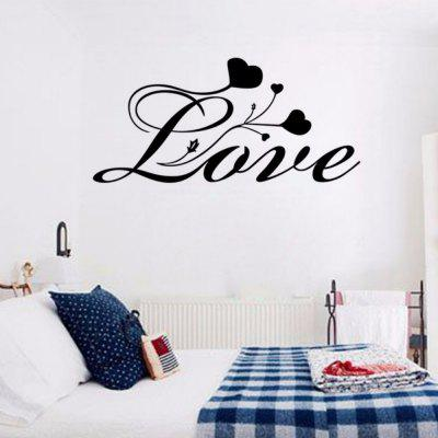DSU Abstract Words Love English Quote Simple Art Wall Sticker ...
