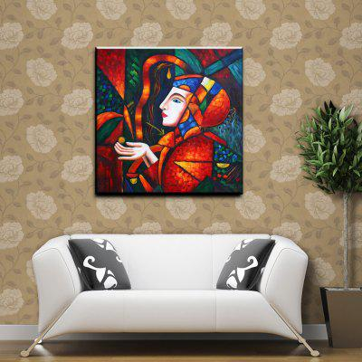 YHHP Hand-Painted Abstract Character Canvas Oil Painting for Home Decoration