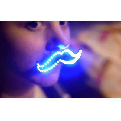 SUPli 8 Modes LED Mustache Flashing Cool Dress Up Night Light for Halloween and Christmas Party