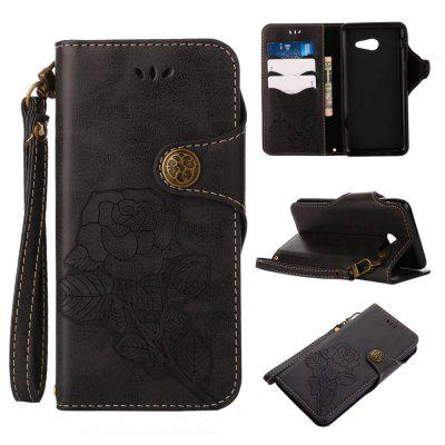 Wkae Rivet Magnetic Flap Wallet Pouch Case for Samsung Galaxy J5 2017