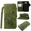 Wkae Rivet Magnetic Flap Wallet Pouch Case for Samsung Galaxy J5 2017 - GREEN