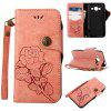 Wkae Rivet Magnetic Flap Wallet Pouch Case for Samsung Galaxy J310 / J3 - PINK