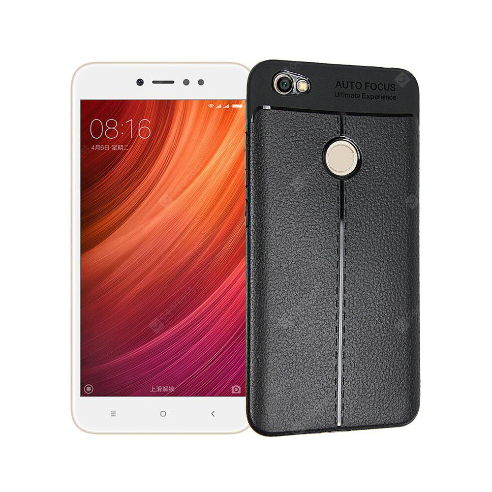 Smooth Litchi Pattern PU Leather Soft Back Case for Xiaomi Redmi Note 5A ( High Edition )