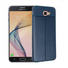 Smooth Litchi Pattern PU Leather Soft Back Case for Samsung Galaxy J5 Prime