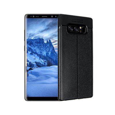 Smooth Litchi Pattern PU Leather Soft Back Case for Samsung Galaxy Note 8