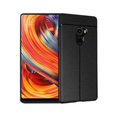 Smooth Litchi Pattern PU Leather Soft Back Case para Xiaomi Mi Mix 2