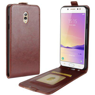 Buy BROWN Durable Crazy Horse Pattern Up and Down Style Flip Buckle PU Leather Case for Samsung Galaxy C7 2017 for $4.39 in GearBest store
