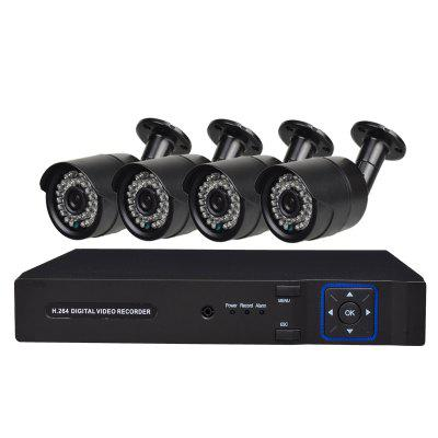 4 Channel Security Camera System with 1080N AHD DVR Weatherproof Camera with Night VisionSurveillance Camera System<br>4 Channel Security Camera System with 1080N AHD DVR Weatherproof Camera with Night Vision<br><br>Hard disk: 1T-6T<br>Package Contents: 1 x 4CH 1080N DVR (hdd not included), 2 x Power Adapter, 1 x USB Mouse, 1 x English User Manual, 4 x 960P AHD Camera, 4 x Cable<br>Package size (L x W x H): 35.50 x 19.00 x 28.00 cm / 13.98 x 7.48 x 11.02 inches<br>Package weight: 3.0700 kg<br>Power Cable Length: 1.2 meter<br>Product size (L x W x H): 25.50 x 23.50 x 4.50 cm / 10.04 x 9.25 x 1.77 inches<br>Product weight: 2.3200 kg