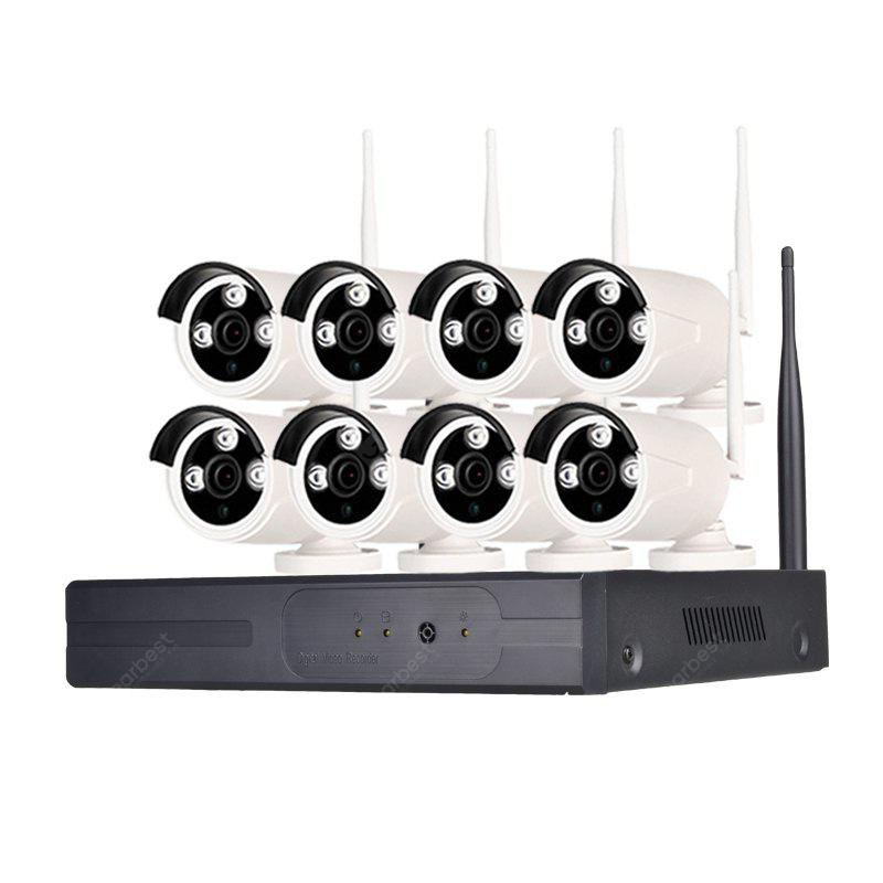 8 Channel 960P Wireless Security 1 x Wifi NVR 8 x 1.3MP Wifi IP Camera with Night Vision