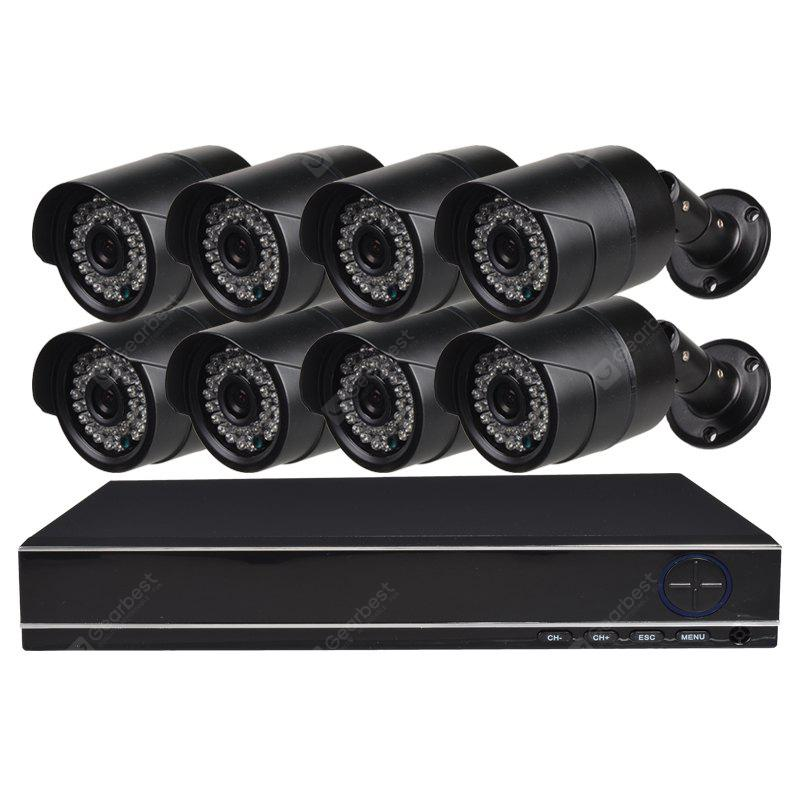 8 Channel Security Camera System with 8CH 1080N Ahd Dvr 8 × 1.0MP Weatherproof Camera with Night Vision