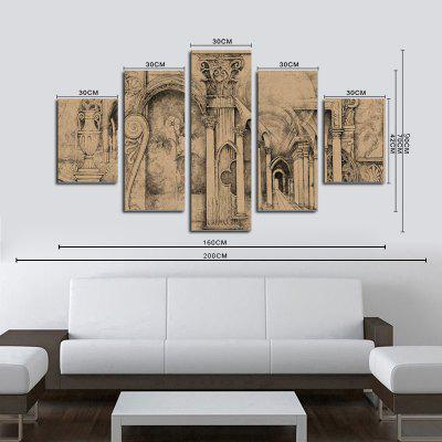 QiaoJiaoHuanYuan No Frame Canvas Five-set Abstract European and American Architectural Decorative PaintingsPrints<br>QiaoJiaoHuanYuan No Frame Canvas Five-set Abstract European and American Architectural Decorative Paintings<br><br>Brand: Qiaojiahuayuan<br>Craft: Print<br>Form: Five Panels<br>Material: Canvas<br>Package Contents: 5 x Print<br>Package size (L x W x H): 42.00 x 5.00 x 5.00 cm / 16.54 x 1.97 x 1.97 inches<br>Package weight: 0.4000 kg<br>Painting: Without Inner Frame<br>Product weight: 0.3900 kg<br>Shape: Vertical Panoramic<br>Style: Modern/Contemporary, Abstract<br>Subjects: Abstract<br>Suitable Space: Bedroom,Living Room
