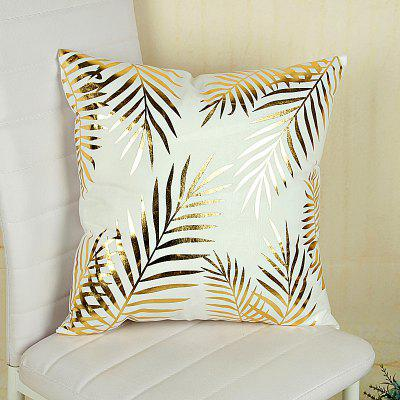 Buy Soft Leaves Motifs Decorative Pillow Case 1PC, GOLDEN, Home & Garden, Home Textile, Bedding, Pillow for $6.75 in GearBest store