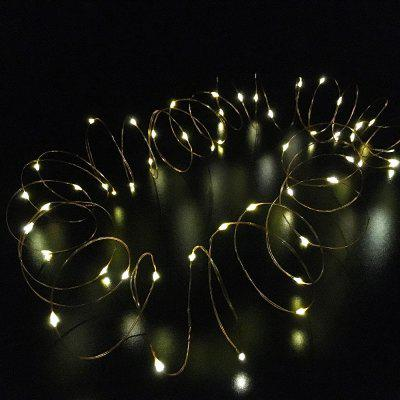 String Light for Patio Micro 50 Warm White Ray LEDs 5MLED Strips<br>String Light for Patio Micro 50 Warm White Ray LEDs 5M<br><br>Beam Angle: 180 degrees<br>Bulb Included: Yes<br>Color Temperature or Wavelength: 2700 - 3000K<br>Features: Festival Lighting<br>Initial Lumens ( lm ): 350LM<br>LED Quantity: 50<br>Length ( m ): 5<br>Light color: Warm white light<br>Light Source: Energy Saving,LED,SMD 0603<br>Package Content: 1 x LED String Light, 1 x Battery Box, 1 x English User Manual<br>Package size (L x W x H): 9.00 x 3.00 x 8.00 cm / 3.54 x 1.18 x 3.15 inches<br>Package weight: 0.0300 kg<br>Power Supply: 3 x 1.5V AA battery<br>Product weight: 0.0250 kg<br>Type: LED Strip Light, Light Sets, String Lights<br>Voltage: DC 4.5V<br>Waterproof Rate: IP44<br>Wattage (W): 1