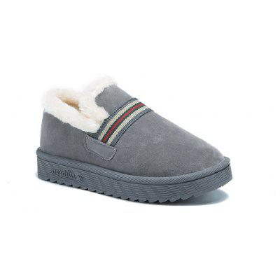 Buy GRAY 38 ZLL-753 All-match Thick Soled Shoes with Velvet Snow Boots Warm Home Bread for $26.32 in GearBest store