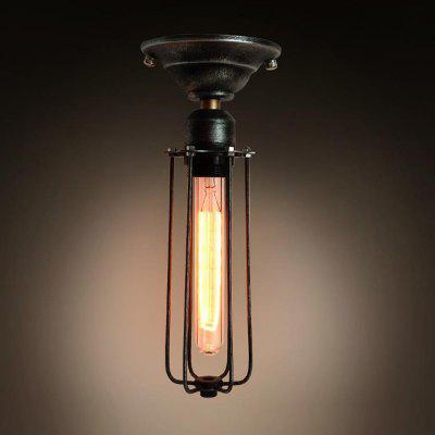 C1005 Loft Vintage Cage Industrial Edison Ceiling Lamp for Coffee Bar LightingFlush Ceiling Lights<br>C1005 Loft Vintage Cage Industrial Edison Ceiling Lamp for Coffee Bar Lighting<br><br>Battery Included: No,Non-preloaded<br>Bulb Base: E26<br>Bulb Included: No<br>Chain / Cord Adjustable or Not: Chain / Cord Adjustable<br>Decoration Material: Metal<br>Features: Wrought Iron, Matte<br>Fixture Height ( CM ): 35<br>Fixture Length ( CM ): 35<br>Fixture Material: Metal<br>Fixture Width ( CM ): 10<br>Number of Bulb: 1 Bulb<br>Number of Bulb Sockets: 1<br>Package Contents: 1 x Light , 1 x Assembly Part<br>Package size (L x W x H): 36.00 x 14.00 x 14.00 cm / 14.17 x 5.51 x 5.51 inches<br>Package weight: 0.6000 kg<br>Product weight: 0.5000 kg<br>Shade Material: Metal<br>Style: Country, Simple Style, Nature Inspired, Modern/Contemporary, Chic &amp; Modern<br>Suggested Room Size: 20 - 30?<br>Suggested Space Fit: Bedroom,Boys Room,Cafes,Dining Room,Entry,Game Room,Garage,Garde,Girls Room,Hallway,Indoors,Kids Room,Kitchen,Living Room,Office,Others,Pathway,Study Room<br>Type: Semi-Flushmount Lights<br>Voltage ( V ): 110-120<br>Wattage (W): 60W