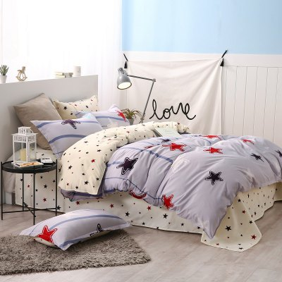 weina 4-piece Cotton Warm Stars Pattern Bedding SetBedding Sets<br>weina 4-piece Cotton Warm Stars Pattern Bedding Set<br><br>Brand: weina<br>Category: Bedding Set<br>For: All<br>Material: Cotton<br>Occasion: Bedroom<br>Package Contents: 1 x Quilt Cover, 1 x Bed Sheet, 2 x Pillow Case<br>Package size (L x W x H): 50.00 x 40.00 x 5.00 cm / 19.69 x 15.75 x 1.97 inches<br>Package weight: 2.5000 kg<br>Product weight: 2.5000 kg<br>Type: Eco-friendly