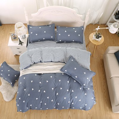 weina 4-piece Cotton Warm Little Triangle Pattern Bedding SetBedding Sets<br>weina 4-piece Cotton Warm Little Triangle Pattern Bedding Set<br><br>Brand: weina<br>Category: Bedding Set<br>For: All<br>Material: Cotton<br>Occasion: Bedroom<br>Package Contents: 1 x Quilt Cover, 1 x Bed Sheet, 2 x Pillow Case<br>Package size (L x W x H): 50.00 x 40.00 x 5.00 cm / 19.69 x 15.75 x 1.97 inches<br>Package weight: 2.5000 kg<br>Product weight: 2.5000 kg