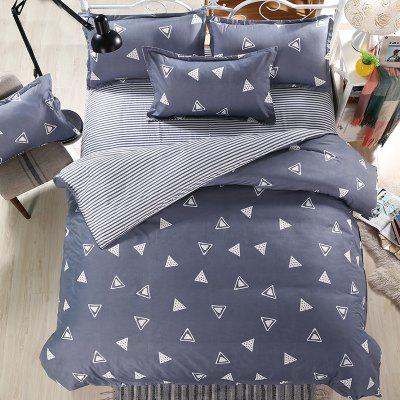 weina 4-piece Cotton Warm Striped Triangle Pattern Bedding SetBedding Sets<br>weina 4-piece Cotton Warm Striped Triangle Pattern Bedding Set<br><br>Brand: weina<br>Category: Bedding Set<br>For: All<br>Material: Cotton<br>Occasion: Bedroom<br>Package Contents: 1 x Quilt Cover, 1 x Bed Sheet, 2 x Pillow Case<br>Package size (L x W x H): 50.00 x 40.00 x 5.00 cm / 19.69 x 15.75 x 1.97 inches<br>Package weight: 2.8000 kg<br>Product weight: 2.5000 kg