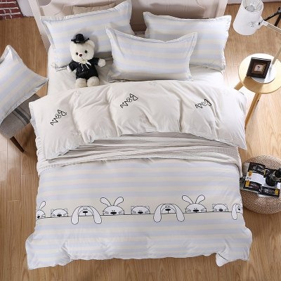 weina 4-piece Cotton Warm Cute Pets Pattern Bedding SetBedding Sets<br>weina 4-piece Cotton Warm Cute Pets Pattern Bedding Set<br><br>Brand: weina<br>Category: Bedding Set<br>For: All<br>Material: Cotton<br>Occasion: Bedroom<br>Package Contents: 1 x Quilt Cover, 1 x Bed Sheet, 2 x Pillow Case<br>Package size (L x W x H): 50.00 x 40.00 x 5.00 cm / 19.69 x 15.75 x 1.97 inches<br>Package weight: 2.8000 kg<br>Product weight: 2.5000 kg<br>Type: Comfortable