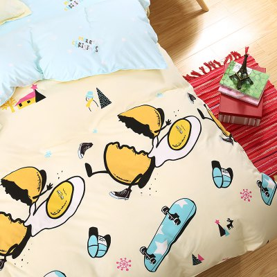 weina 4-piece Cotton Warm Naughty Egg Pattern Bedding SetBedding Sets<br>weina 4-piece Cotton Warm Naughty Egg Pattern Bedding Set<br><br>Brand: weina<br>Category: Bedding Set<br>For: All<br>Material: Cotton<br>Occasion: Bedroom<br>Package Contents: 1 x Quilt Cover, 1 x Bed Sheet, 2 x Pillow Case<br>Package size (L x W x H): 50.00 x 40.00 x 5.00 cm / 19.69 x 15.75 x 1.97 inches<br>Package weight: 2.8000 kg<br>Product weight: 2.8000 kg<br>Type: Comfortable