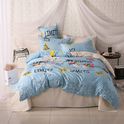 weina 4-piece Cotton Warm Cute Horse Pattern Bedding SetBedding Sets<br>weina 4-piece Cotton Warm Cute Horse Pattern Bedding Set<br><br>Brand: weina<br>Category: Bedding Set<br>For: All<br>Material: Cotton<br>Occasion: Bedroom<br>Package Contents: 1 x Quilt Cover, 1 x Bed Sheet, 2 x Pillow Case<br>Package size (L x W x H): 50.00 x 40.00 x 5.00 cm / 19.69 x 15.75 x 1.97 inches<br>Package weight: 2.8000 kg<br>Product weight: 2.5000 kg<br>Type: Comfortable
