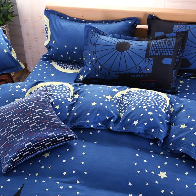 weina 4-piece Cotton Warm Starry Sky City Pattern Bedding SetBedding Sets<br>weina 4-piece Cotton Warm Starry Sky City Pattern Bedding Set<br><br>Brand: weina<br>Category: Bedding Set<br>For: All<br>Material: Cotton<br>Occasion: Bedroom<br>Package Contents: 1 x Quilt Cover, 1 x Bed Sheet, 2 x Pillow Case<br>Package size (L x W x H): 50.00 x 40.00 x 5.00 cm / 19.69 x 15.75 x 1.97 inches<br>Package weight: 2.8000 kg<br>Product weight: 2.5000 kg<br>Type: Comfortable