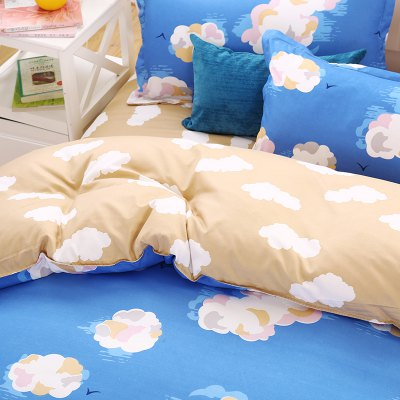 weina 4-piece Cotton Warm Cloud Pattern Bedding SetBedding Sets<br>weina 4-piece Cotton Warm Cloud Pattern Bedding Set<br><br>Brand: weina<br>Category: Bedding Set<br>For: All<br>Material: Cotton<br>Occasion: Bedroom<br>Package Contents: 1 x Quilt Cover, 1 x Bed Sheet, 2 x Pillow Case<br>Package size (L x W x H): 50.00 x 40.00 x 5.00 cm / 19.69 x 15.75 x 1.97 inches<br>Package weight: 2.8000 kg<br>Product weight: 2.5000 kg<br>Type: Comfortable