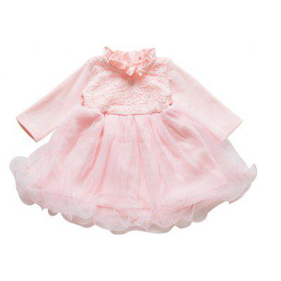 Baby Girls Long Sleeve Lace Princess Dresses