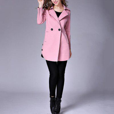 Womens  Lapel Collar Trench Coat Long Sleeve Solid ColorJackets &amp; Coats<br>Womens  Lapel Collar Trench Coat Long Sleeve Solid Color<br><br>Closure Type: Double Breasted<br>Clothes Type: Wool &amp; Blends<br>Collar: Turn-down Collar<br>Elasticity: Nonelastic<br>Embellishment: Button<br>Fabric Type: Worsted<br>Material: Wool, Cotton<br>Package Contents: 1 x Coat<br>Pattern Type: Solid<br>Shirt Length: Medium Length<br>Sleeve Length: Full<br>Style: Fashion<br>Type: Slim<br>Weight: 0.8900kg
