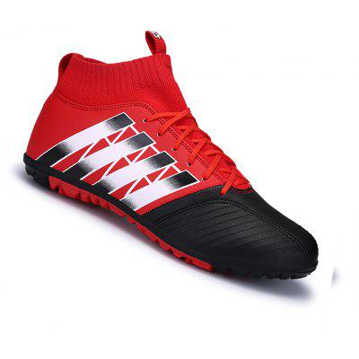 Buy RED 40 Men Football Running Lace Up Sport Outdoor Soccer Colorful Multicolor Athletic Shoes 39-44 for $52.22 in GearBest store