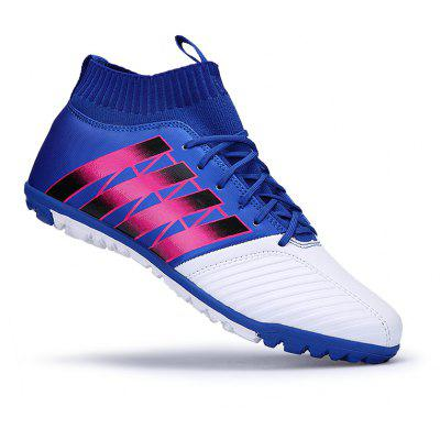 Buy BLUE 39 Men Football Running Lace Up Sport Outdoor Soccer Colorful Multicolor Athletic Shoes 39-44 for $52.22 in GearBest store