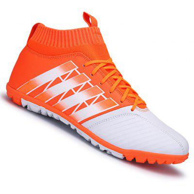 Buy ORANGE 40 Men Football Running Lace Up Sport Outdoor Soccer Colorful Multicolor Athletic Shoes 39-44 for $52.22 in GearBest store