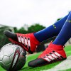 Hommes Football Running Lace Up Sport En Plein Air Football Coloré Multicolore Chaussures de Sport 39-44 - ROUGE