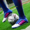 Men Football Running Lace Up Sport Outdoor Soccer Colorful Multicolor Athletic Shoes 39-44 - BLUE