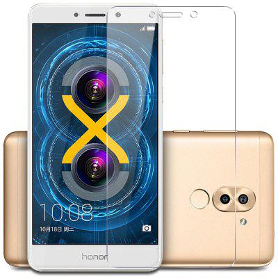 Tempered Glass Screen Protector 9H Film for Huawei Honor 6XScreen Protectors<br>Tempered Glass Screen Protector 9H Film for Huawei Honor 6X<br><br>Compatible Model: Huawei Honor 6X<br>Features: High Transparency, High-definition, Anti scratch, Anti-oil, Protect Screen<br>Mainly Compatible with: HUAWEI<br>Material: Tempered Glass<br>Package Contents: 1 x Screen Protector  1 x Cleaning Paper Set<br>Package size (L x W x H): 18.00 x 11.00 x 1.00 cm / 7.09 x 4.33 x 0.39 inches<br>Package weight: 0.0400 kg<br>Surface Hardness: 9H<br>Thickness: 0.3mm<br>Type: Screen Protector