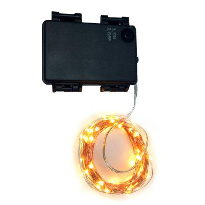 5M 50-LED Copper Wire 8-mode Decorative LED String Lights with Battery Box