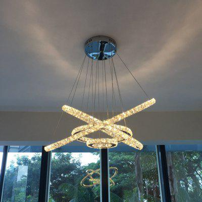 Modern LED Ring Crystal DIY Shape Pendant Light 110 - 240VPendant Light<br>Modern LED Ring Crystal DIY Shape Pendant Light 110 - 240V<br><br>Appearance: LED Ring Pendant Light<br>Available Light Color: Cold White,Warm White<br>Beam Angle: 180°<br>Body Color: Silver<br>Bulb Base Type: Other<br>Bulb Included: Yes<br>Canopy Color: Chrome<br>Canopy diameter: 28CM<br>Canopy Material: Iron<br>CCT/Wavelength: 3000-3500K,5500-6000K<br>Certifications: CE,FCC,RoHs<br>Emitter Types: SMD 5730<br>Function: Studio and Exhibition Lighting, Commercial Lighting, Home Lighting<br>Illumination Field: about15-20?<br>Is Bulbs Included: Yes,LED chip Source<br>Is Dimmable: No<br>Lampbody Color: Chrome<br>Lampbody Material: Stainless Steel<br>Lampshade Color: Clear<br>Lampshade Material: k9 Crystal<br>Luminous Flux: 5300<br>Output Power: &gt;20W<br>Package Contents: 1 x Pendant Light<br>Package size (L x W x H): 87.00 x 87.00 x 13.00 cm / 34.25 x 34.25 x 5.12 inches<br>Package weight: 12.3000 kg<br>Place: Study,Parlor,Hotel Hall,Hotel Room,Master bedroom<br>Plug: CN Plug,EU plug,UK plug,US plug<br>Power: 87W<br>Product size (L x W x H): 80.00 x 80.00 x 120.00 cm / 31.5 x 31.5 x 47.24 inches<br>Product weight: 10.3000 kg<br>Sheathing Material: Crystal<br>Style: Europe, Classic, Modern/Contemporary, Office/Business, Transparent<br>Type: Pendants<br>Voltage: AC110-240V<br>Voltage (V): AC 110-240