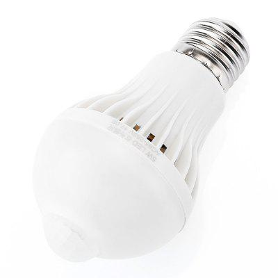 New E27 5W 600LM Body Sensor Light BulbGlobe bulbs<br>New E27 5W 600LM Body Sensor Light Bulb<br><br>Color Temperature or Wavelength: 6500K<br>Connection: E27<br>Dimmable: No<br>Initial Lumens ( lm ): 600LM<br>LED Beam Angle: 360 Degree<br>LED Quantity: 10<br>LED Type: SMD 5730<br>Lifetime ( h ): More Than  50000<br>Material: Plastic<br>Package Contents: 1 x Induction LED Light<br>Package size (L x W x H): 7.00 x 7.00 x 13.00 cm / 2.76 x 2.76 x 5.12 inches<br>Package weight: 0.0555 kg<br>Primary Application: Children Room,Garage or Carport,Hallway or Stairwell,Home or Office,Living Room,Living Room or Dining Room<br>Product size (L x W x H): 6.00 x 6.00 x 11.40 cm / 2.36 x 2.36 x 4.49 inches<br>Product weight: 0.0400 kg<br>Type: LED Smart Bulbs<br>Voltage: 85-265V<br>Wattage: 5W