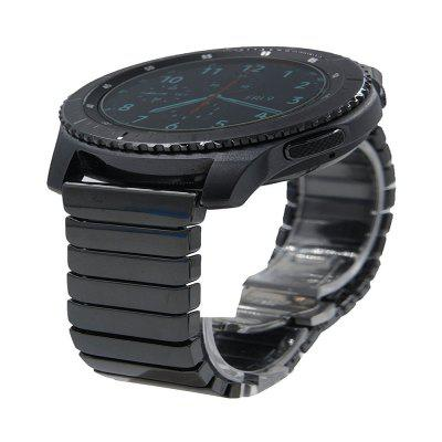 Buy 22MM Ceramic Stainless Steel Integrate Watch Strap Band Bracelet Deluxe Smooth Wristband+ Butterfly Closure for Samsung Gear S3 Classic and Frontier, BLACK, Consumer Electronics, Smart Watch Accessories for $26.72 in GearBest store