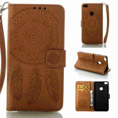 Buy Embossing Campanula PU Phone Case for HUAWEI P8 Lite 2017, BROWN, Mobile Phones, Cell Phone Accessories, Cases & Leather for $8.54 in GearBest store