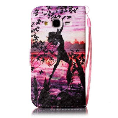 Painted PU Phone Case for Samsung Galaxy J3 2015 / 2016Samsung J Series<br>Painted PU Phone Case for Samsung Galaxy J3 2015 / 2016<br><br>Features: Cases with Stand, With Credit Card Holder, With Lanyard, Dirt-resistant<br>For: Samsung Mobile Phone<br>Material: PU Leather<br>Package Contents: 1 x Phone Case<br>Package size (L x W x H): 14.50 x 8.00 x 1.80 cm / 5.71 x 3.15 x 0.71 inches<br>Package weight: 0.0620 kg<br>Style: Novelty