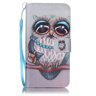 Buy GRAY Painted PU Phone Case for Samsung Galaxy J5 2016 for $5.25 in GearBest store