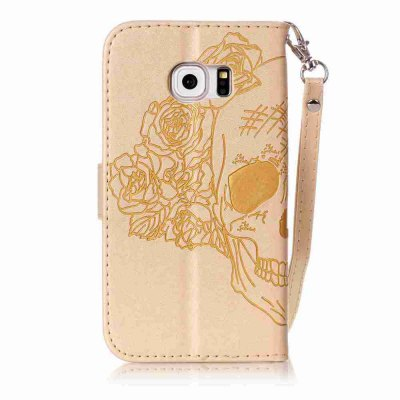 Double Embossed Skull Head PU Phone Case for Samsung Galaxy   S6  EdgeSamsung S Series<br>Double Embossed Skull Head PU Phone Case for Samsung Galaxy   S6  Edge<br><br>Features: Full Body Cases, Cases with Stand, With Credit Card Holder, With Lanyard, Dirt-resistant<br>For: Samsung Mobile Phone<br>Functions: Camera Hole Location<br>Material: PU Leather, TPU<br>Package Contents: 1 x Phone Case<br>Package size (L x W x H): 14.90 x 7.90 x 1.80 cm / 5.87 x 3.11 x 0.71 inches<br>Package weight: 0.0710 kg<br>Style: Pattern, Solid Color, Cool Skulls, Novelty<br>Using Conditions: Skiing,Cruise