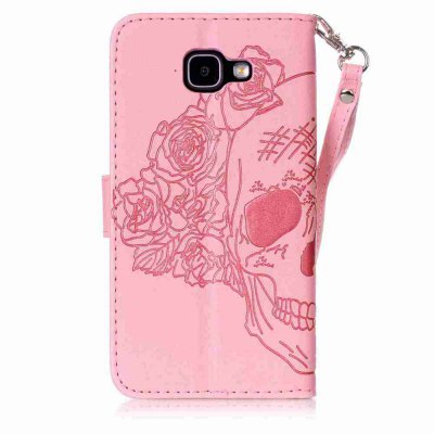 Double Embossed Skull Head PU Phone Case for Samsung Galaxy   A5 2016Samsung A Series<br>Double Embossed Skull Head PU Phone Case for Samsung Galaxy   A5 2016<br><br>Features: Full Body Cases, Cases with Stand, With Credit Card Holder, With Lanyard, Dirt-resistant<br>For: Samsung Mobile Phone<br>Functions: Camera Hole Location<br>Material: PU Leather, TPU<br>Package Contents: 1 x Phone Case<br>Package size (L x W x H): 15.30 x 8.20 x 1.80 cm / 6.02 x 3.23 x 0.71 inches<br>Package weight: 0.0750 kg<br>Style: Pattern, Solid Color, Cool Skulls, Novelty<br>Using Conditions: Skiing,Cruise