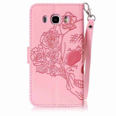 Double Embossed Skull Head PU Phone Case for Samsung Galaxy   J5 2016Samsung J Series<br>Double Embossed Skull Head PU Phone Case for Samsung Galaxy   J5 2016<br><br>Features: Full Body Cases, Cases with Stand, With Credit Card Holder, With Lanyard, Dirt-resistant<br>For: Samsung Mobile Phone<br>Functions: Camera Hole Location<br>Material: PU Leather, TPU<br>Package Contents: 1 x Phone Case<br>Package size (L x W x H): 14.00 x 7.90 x 1.80 cm / 5.51 x 3.11 x 0.71 inches<br>Package weight: 0.0730 kg<br>Style: Pattern, Solid Color, Cool Skulls, Novelty<br>Using Conditions: Skiing,Cruise