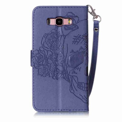 Double Embossed Skull Head PU Phone Case for Samsung Galaxy J7 2016Samsung J Series<br>Double Embossed Skull Head PU Phone Case for Samsung Galaxy J7 2016<br><br>Features: Full Body Cases, Cases with Stand, With Credit Card Holder, With Lanyard, Dirt-resistant<br>For: Samsung Mobile Phone<br>Functions: Camera Hole Location<br>Material: PU Leather, TPU<br>Package Contents: 1 x Phone Case<br>Package size (L x W x H): 15.60 x 8.50 x 1.80 cm / 6.14 x 3.35 x 0.71 inches<br>Package weight: 0.0790 kg<br>Style: Pattern, Solid Color, Cool Skulls, Novelty<br>Using Conditions: Skiing,Cruise