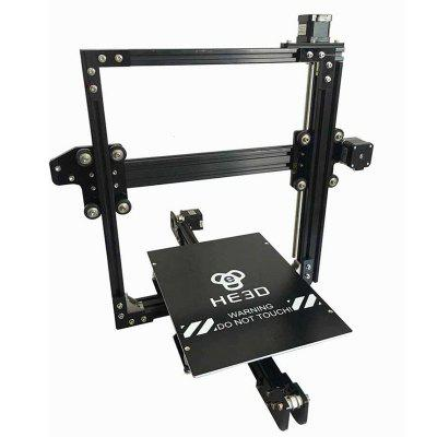 HE3D EI3 Single Extruder Large Size 3d Printer Kit 200mm×280mm×200mm he3d k280 delta large size auto leveling single extruder the newest dlt k280 3d printer diy kit with heatbed