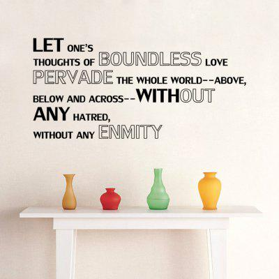 Buy DSU Bedroom Decal Boundless Love Quote Wall Sticker Removable Home Decoration, BLACK, Home & Garden, Home Decors, Wall Art, Wall Stickers for $2.92 in GearBest store